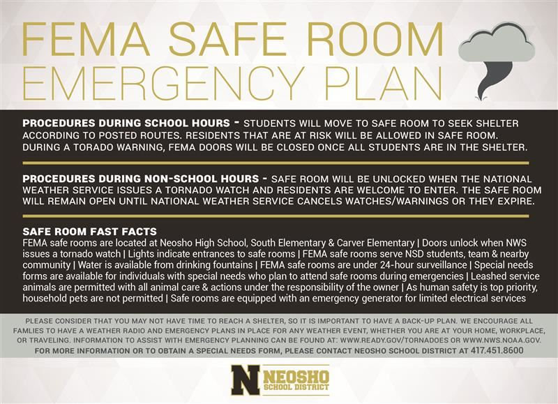 fema safe room emergency plan